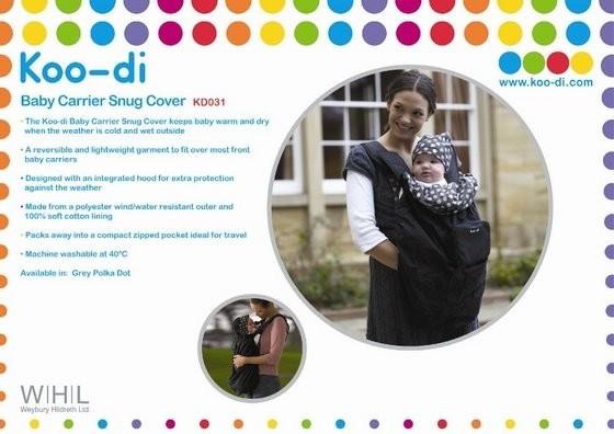 Koo-di Baby Carrier Snug Cover - Pláštěnka na nosítko - Black