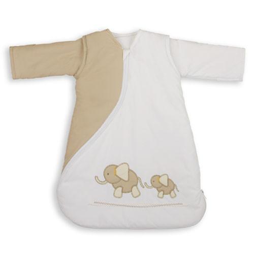 PurFlo SleepSac Embroidered - Vyšívaný spací pytel - Elephant Natural 2.5TOG 0-3 měsíce