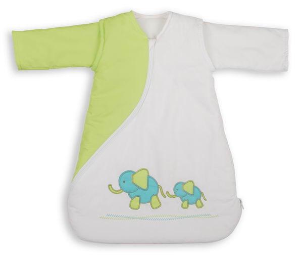 PurFlo SleepSac Embroidered - Vyšívaný spací pytel - Elephant Kiwi 2.5TOG 0-3 měsíce