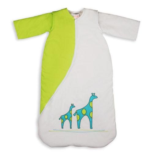 PurFlo SleepSac Embroidered - Vyšívaný spací pytel - Giraffe Kiwi 2.5 TOG 9-18 měsíců