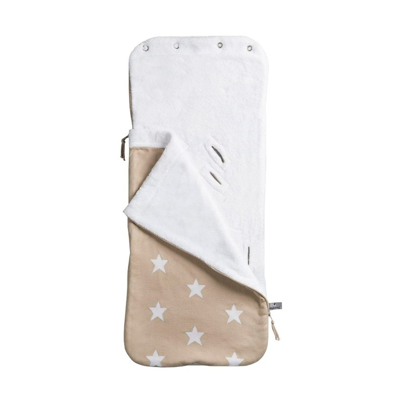 Baby´s Only Star Footmuff for Car Seat - Fusak do autosedačky 0+ - Beige/White