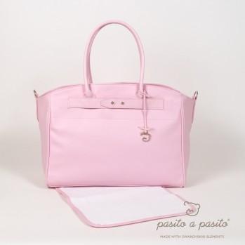 """pasito a pasito® Swarovski Element Maternity Bags """"Changing Bag"""" - Přebalovací taška s podložkou - Pink Baby"""