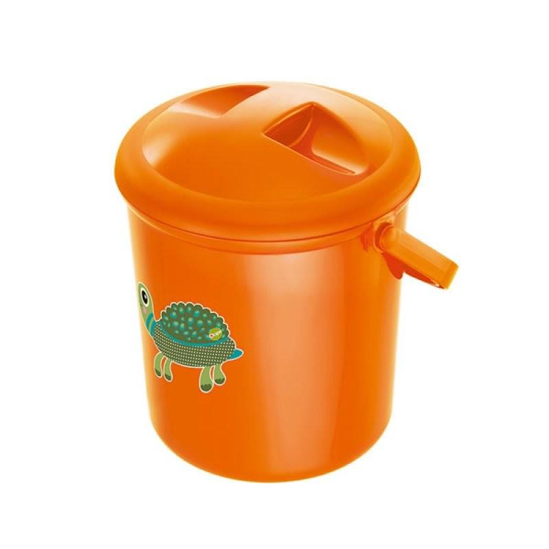 """Rotho® Bella Bambina """"Nappy Pale"""" - Koš na pleny - Oops Mandarin Turtle - Želva oranžová"""