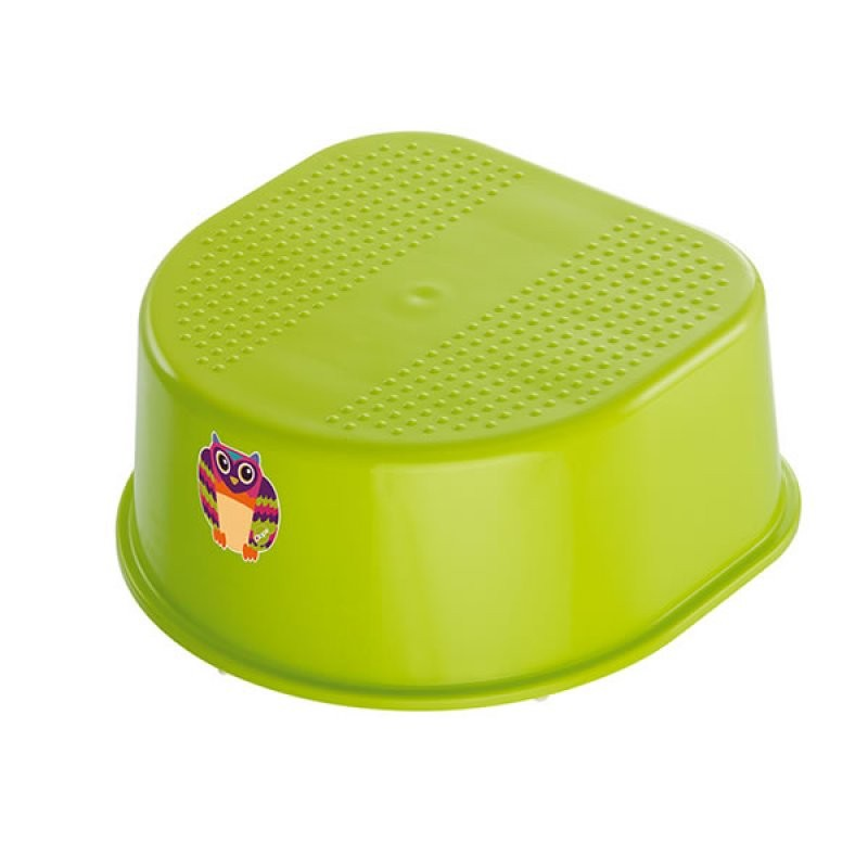 "Rotho® Bella Bambina ""Step Stool"" - Stupátko - Oops Apple Green Owl - Sova zelená"
