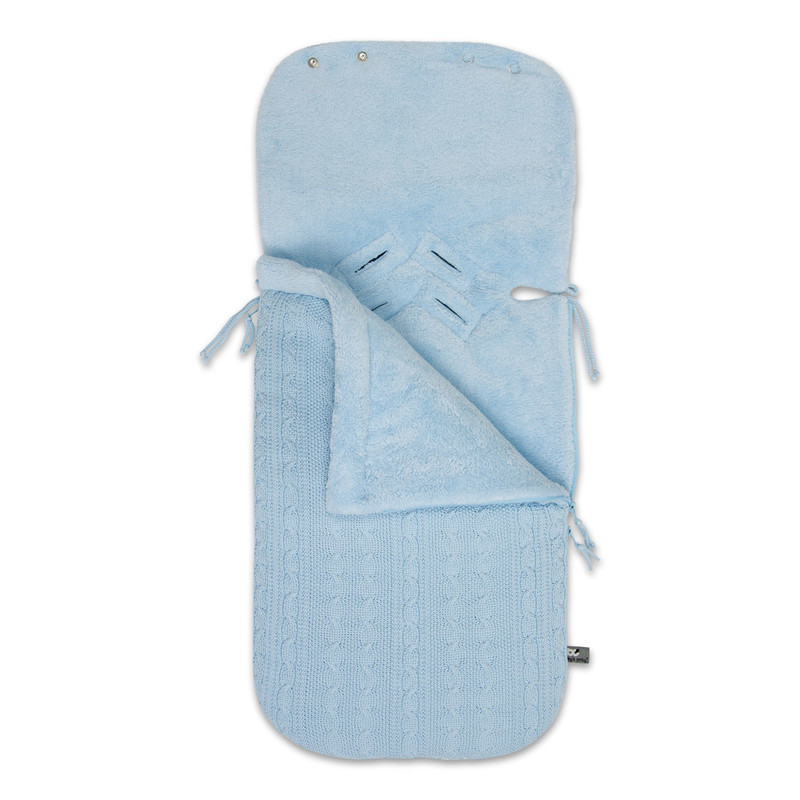 Baby´s Only Cable Teddy Footmuff for Car Seat - Fusak do autosedačky 0+ - Baby Blue