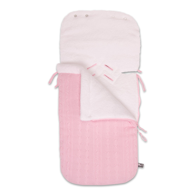 Baby´s Only Cable Teddy Footmuff for Car Seat - Fusak do autosedačky 0+ - Baby Pink