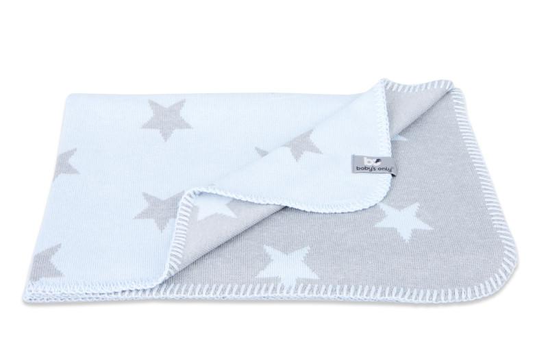 Baby´s Only Star Blanket - Dětská deka - 02. Baby Blue/Grey 95x70