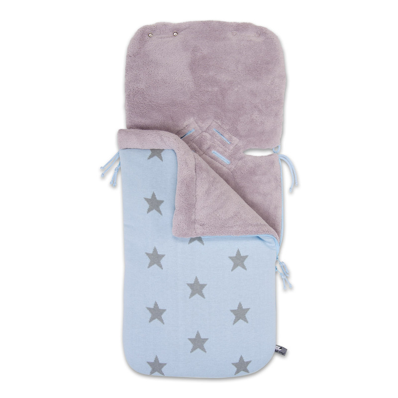 Baby´s Only Star Footmuff for Car Seat - Fusak do autosedačky 0+ - Baby Blue / Light Grey