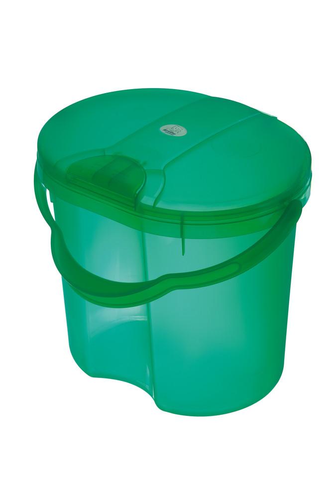 """Rotho® Top """"Nappy Pale"""" - Koš na pleny - 11. Translucent Green - Průsvitně zelená"""