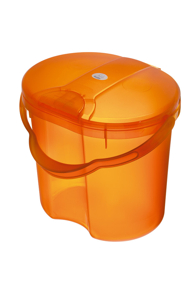 """Rotho® Top """"Nappy Pale"""" - Koš na pleny - 12. Translucent Orange - Průsvitně oranžová"""