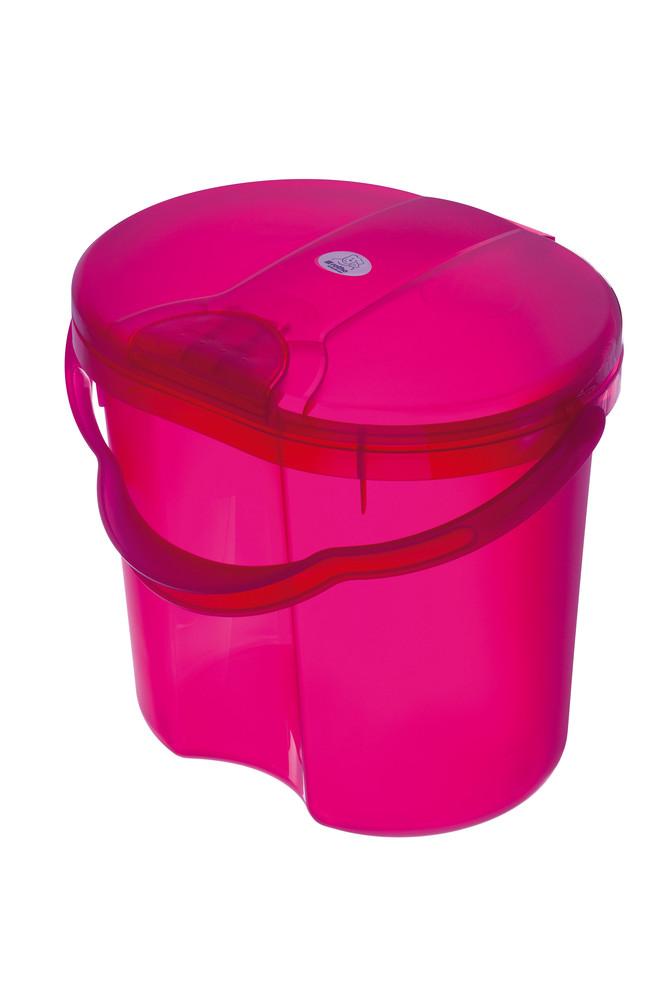 """Rotho® Top """"Nappy Pale"""" - Koš na pleny - 10. Translucent Pink - Průsvitně růžová"""