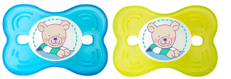 "Rotho® Modern Feeding Cool Friends ""Soothers"" - Dudlík - Butterlfy - Aquamarine / Apple green"