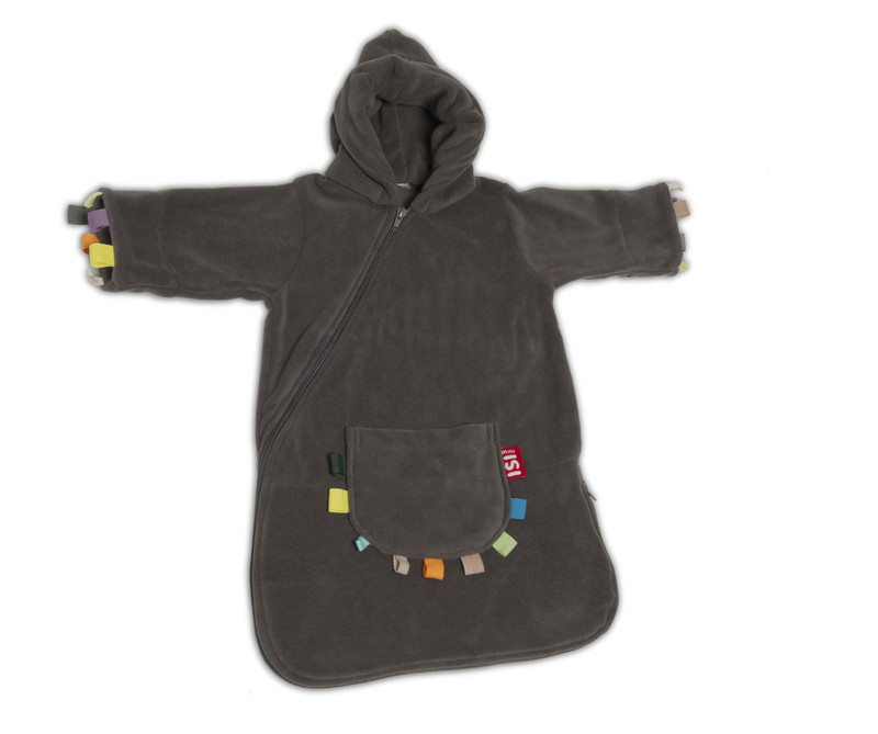 ISI Mini Fleece Travel comfort - Spací pytel - Labels Anthracite 0-6m