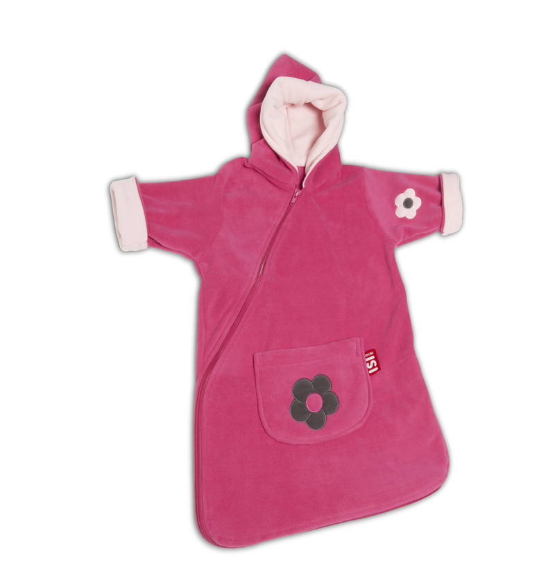 ISI Mini Fleece Travel comfort - Spací pytel - Flower Fuchsia 0-6m