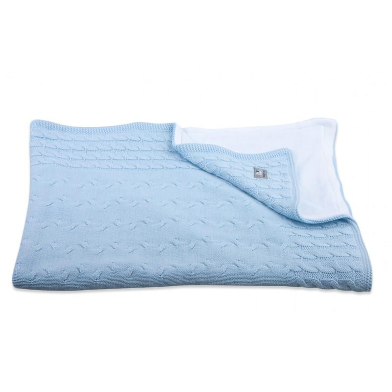 Baby´s Only Cable Chenille Blanket - Dětská deka - Baby Blue 100x130cm