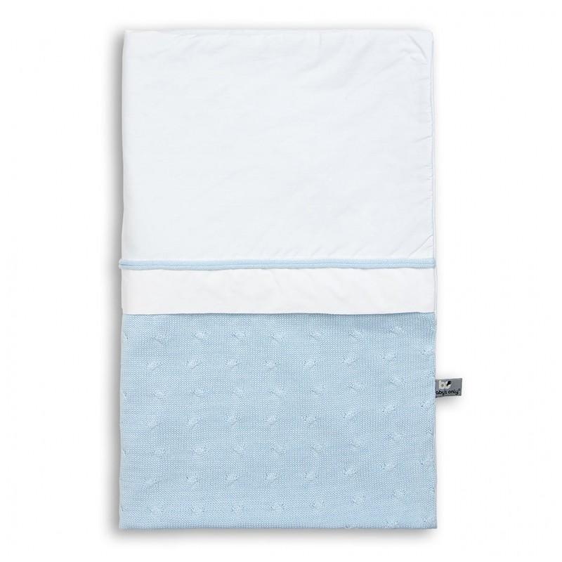 Baby´s Only Cable Uni Duvet Cover - Dětská přikrývka do postýlky - Baby Blue
