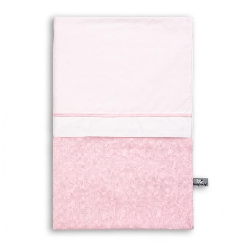 Baby´s Only Cable Uni Duvet Cover - Dětská přikrývka do postýlky - Baby Pink