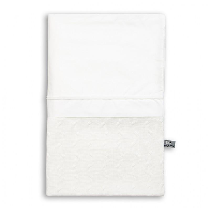 Baby´s Only Cable Uni Duvet Cover - Dětská přikrývka do postýlky - White