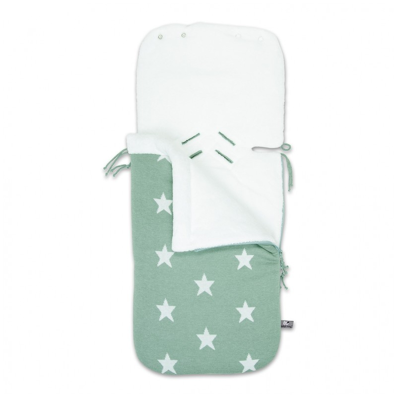 Baby´s Only Star Footmuff for Car Seat - Fusak do autosedačky 0+ - Mint / White