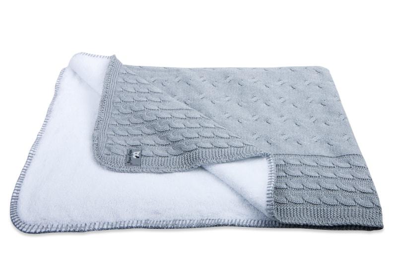 Baby´s Only Cable Teddy Blanket - Dětská deka - 08. Grey 95x70cm