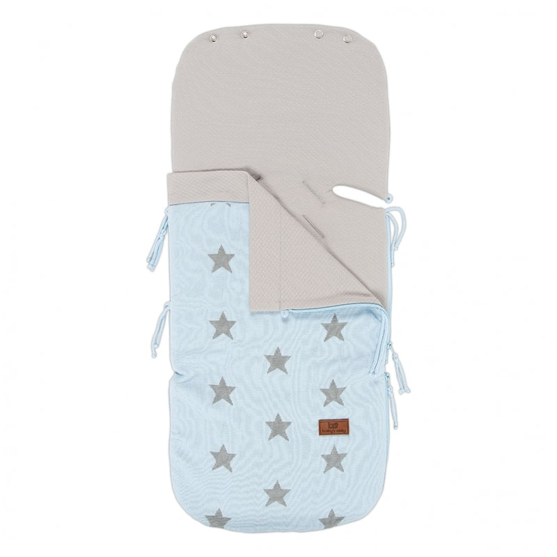 Baby's Only Summer footmuff for car seat 0+ Star - 911393 Color: Baby Blue / Light Grey