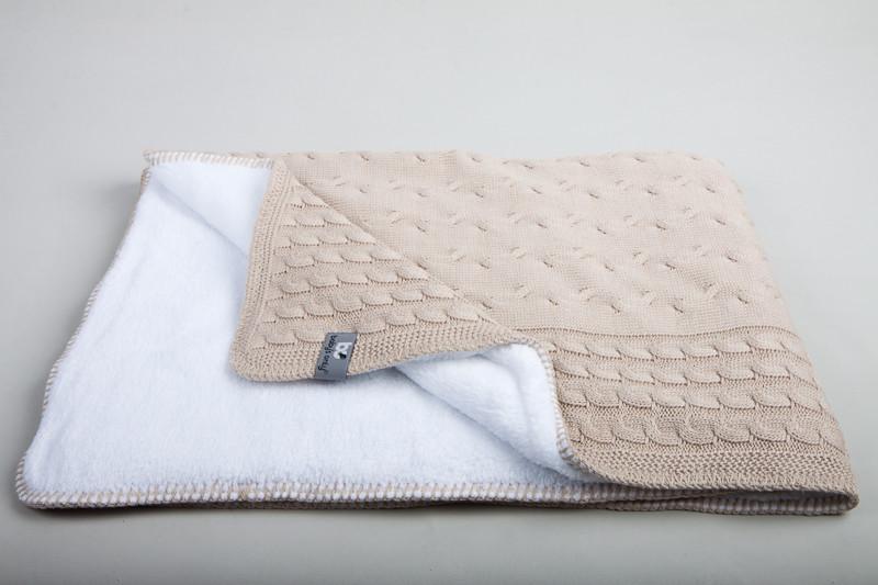 Baby´s Only Cable Teddy Blanket - Dětská deka - Beige 100x130cm