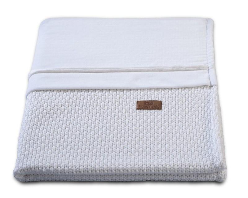 Baby´s Only Robust Rib&Pip Chenille Blanket - Dětská deka - 30. Pip White 100x130