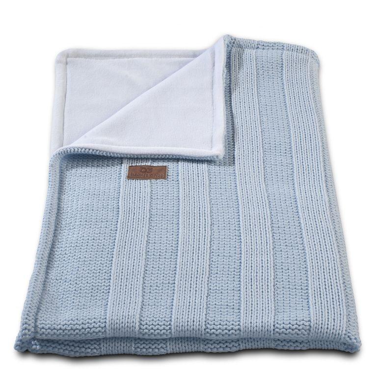 Baby´s Only Robust Rib&Pip Chenille Blanket - Dětská deka - 13. Rib Baby Blue 100x130