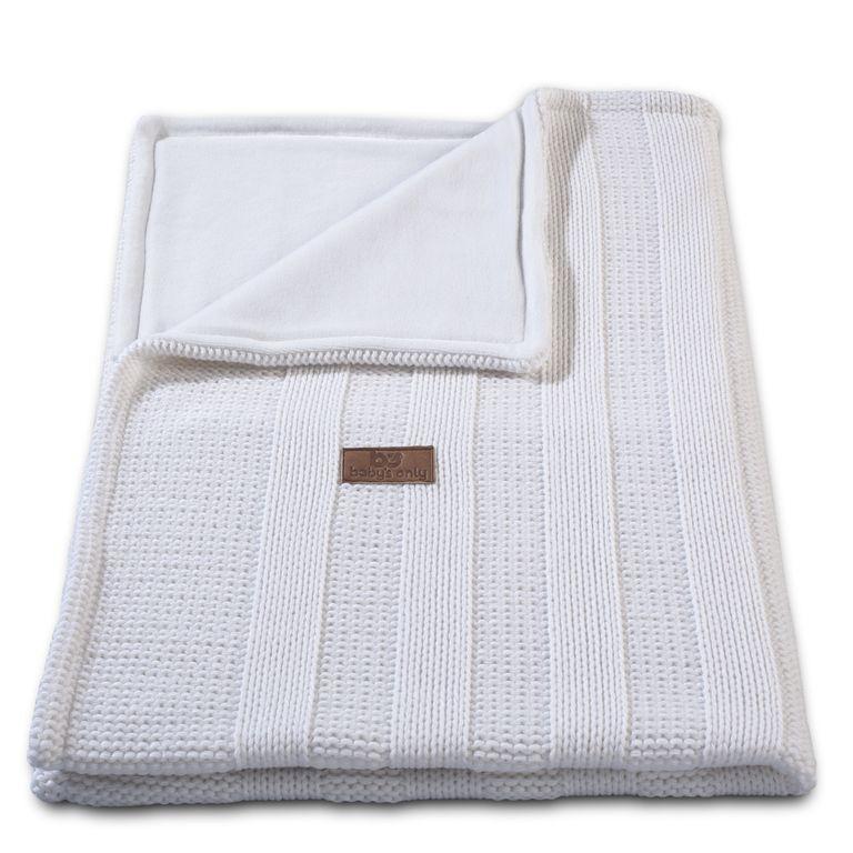 Baby´s Only Robust Rib&Pip Chenille Blanket - Dětská deka - 12. Rib White 100x130