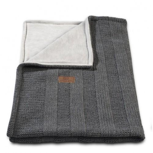 Baby´s Only Robust Rib&Pip Chenille Blanket - Dětská deka - 16. Rib Antracite 100x130