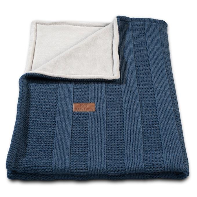 Baby´s Only Robust Rib&Pip Chenille Blanket - Dětská deka - 17. Rib Jeans 100x130