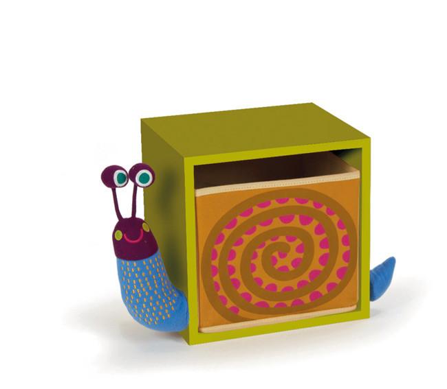 O-OOPS Happy Bedroom! - Skříňka ve stylu zvířátek - Snail Green - Šnek zelená