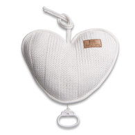 Baby´s Only Robust Musicbox Heart - Hudební srdce - White