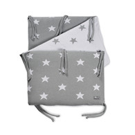 Baby´s Only Star Bed Bumper - Mantinel do postýlky - Grey / White