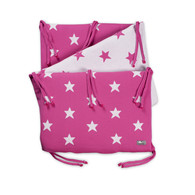 Baby´s Only Star Bed Bumper - Mantinel do postýlky - Fuchsia / White