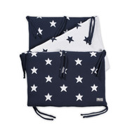 Baby´s Only Star Bed Bumper - Mantinel do postýlky - Dark Blue / White
