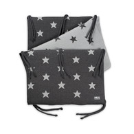 Baby´s Only Star Bed Bumper - Mantinel do postýlky - Anthracite / Grey