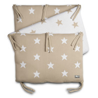 Baby´s Only Star Bed Bumper - Mantinel do postýlky - Beige / White