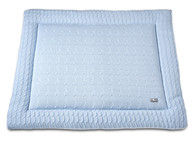 Baby´s Only Cable Uni Playpen Mat - Deka do ohrádky - 14. Baby Blue 85x100