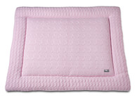 Baby´s Only Cable Uni Playpen Mat - Deka do ohrádky - 15. Baby Pink 85x100