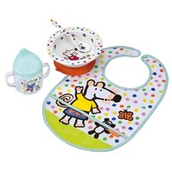 Petit Jour Paris Maisy Mouse White Baby set - Jídelní set od 0m+