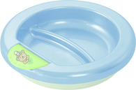 "Rotho® Modern Feeding  Four Little Friends""Stay warm plate"" - Dětský termotalíř - Baby Four little friends - Babyblue Pearl/Mintgreen/White"