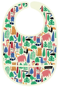 Petit Jour Paris Dans La Jungle PVC coated cotton bib - Bryndáček s kapsou