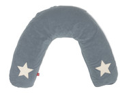 ISI Mini Nursery pillow cover with stars - Potah na kojící polštář s hvězdami - Steel with stars