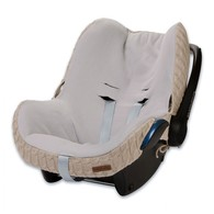 Baby´s Only Cable Teddy Cover for Car Seat - Potah na autosedačku 0+ - Beige