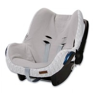 Baby´s Only Cable Teddy Cover for Car Seat - Potah na autosedačku 0+ - White