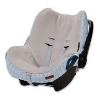 Baby´s Only Cable Teddy Cover for Car Seat - Potah na autosedačku 0+ - Baby Blue