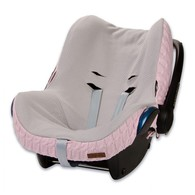 Baby´s Only Cable Teddy Cover for Car Seat - Potah na autosedačku 0+ - Baby Pink