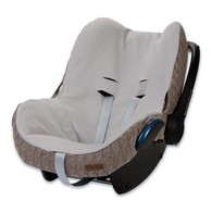 Baby´s Only Cable Teddy Cover for Car Seat - Potah na autosedačku 0+ - Taupe