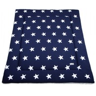 Baby´s Only Star Playpen Mat - Deka do ohrádky - Dark Blue / White